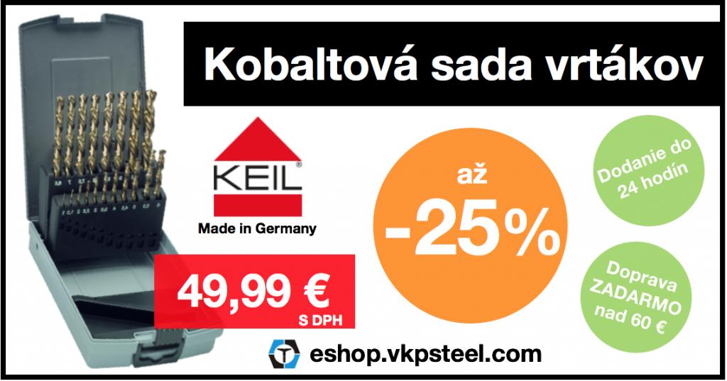 Akcia – Kobaltová sada vrtákov – Zľava až 25%